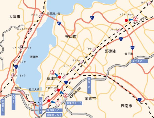 滋賀県南部 人と車の接触事故